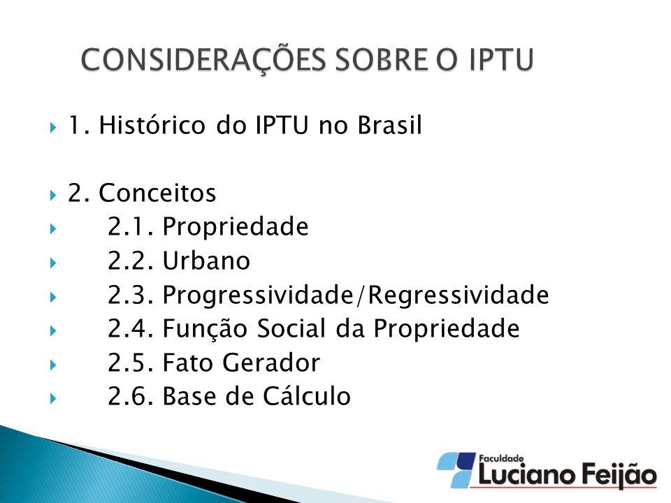  1.Histórico do IPTU no Brasil  2. Conceitos  2.1.