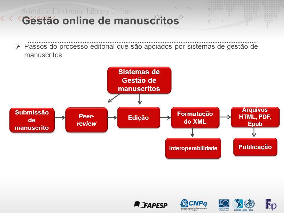  Fluxos editoriais recomendados pelo SciELO : Gestão online de manuscritos