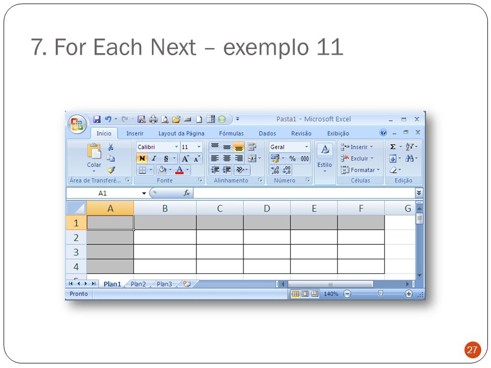 7. For Each Next – exemplo 11 27