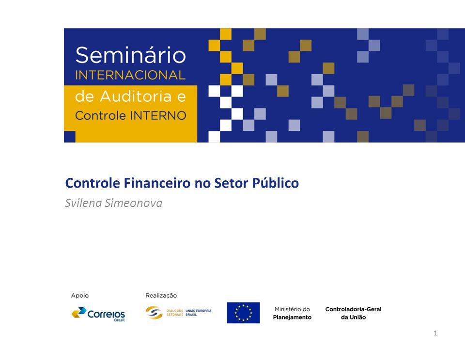 Controle Financeiro no Setor Público Svilena Simeonova 1