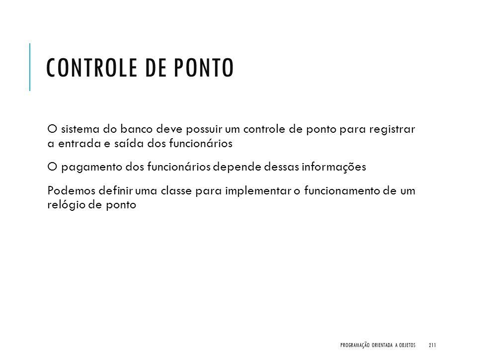 CONTROLE DE PONTO O sistema do banco deve possuir um controle de ponto para registrar a entrada e saída dos funcionários O pagamento dos funcionários