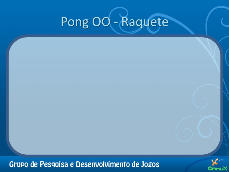 Pong OO - Raquete 14