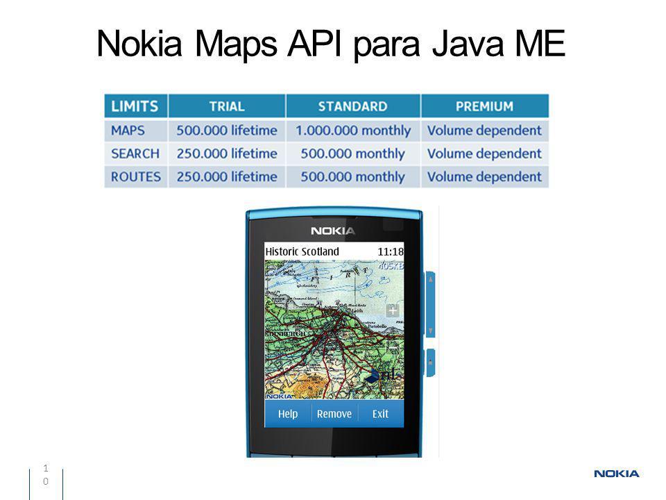 Nokia Maps API para Java ME 10