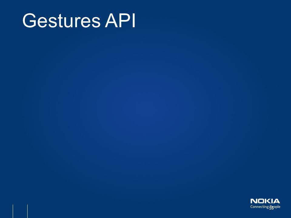 Gestures API 16