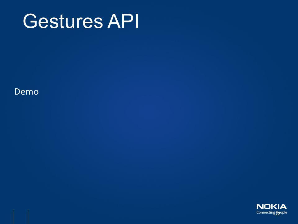 Demo Gestures API 22