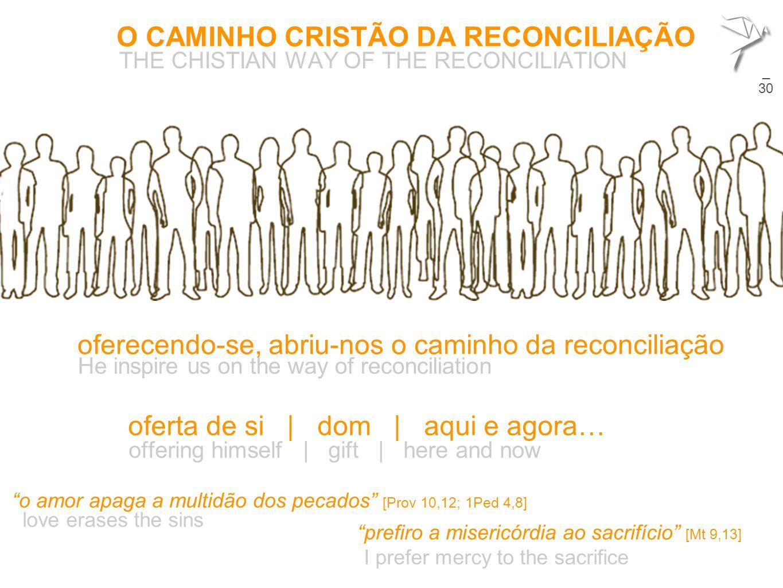 O CAMINHO CRISTÃO DA RECONCILIAÇÃO THE CHISTIAN WAY OF THE RECONCILIATION 22 oferecendo-se, abriu-nos o caminho da reconciliação He inspire us on the