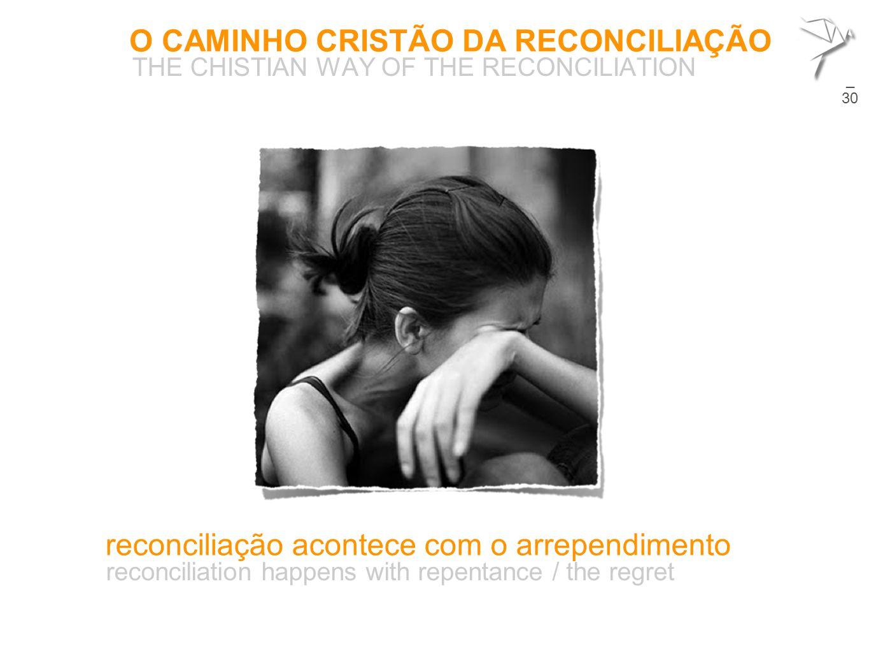 O CAMINHO CRISTÃO DA RECONCILIAÇÃO THE CHISTIAN WAY OF THE RECONCILIATION 24  reconciliação acontece com o arrependimento reconciliation happens with