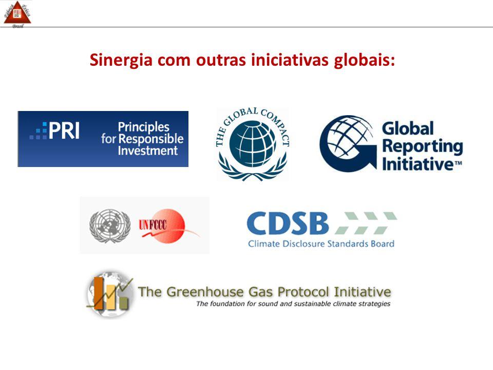 Sinergia com outras iniciativas globais: