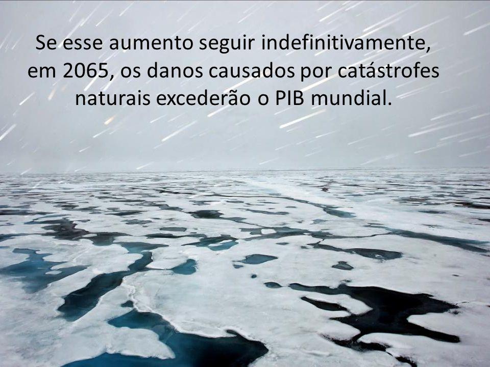 Se esse aumento seguir indefinitivamente, em 2065, os danos causados por catástrofes naturais excederão o PIB mundial.