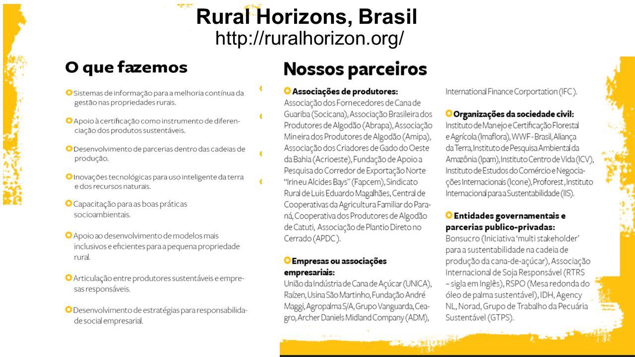 Rural Horizons, Brasil http://ruralhorizon.org/