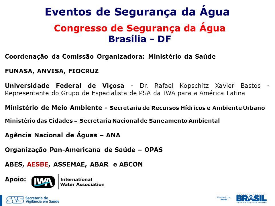Coordenação da Comissão Organizadora: Ministério da Saúde FUNASA, ANVISA, FIOCRUZ Universidade Federal de Viçosa - Dr.