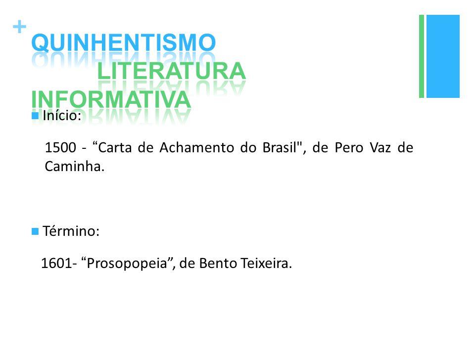 """+ Início: 1500 - """"Carta de Achamento do Brasil"""