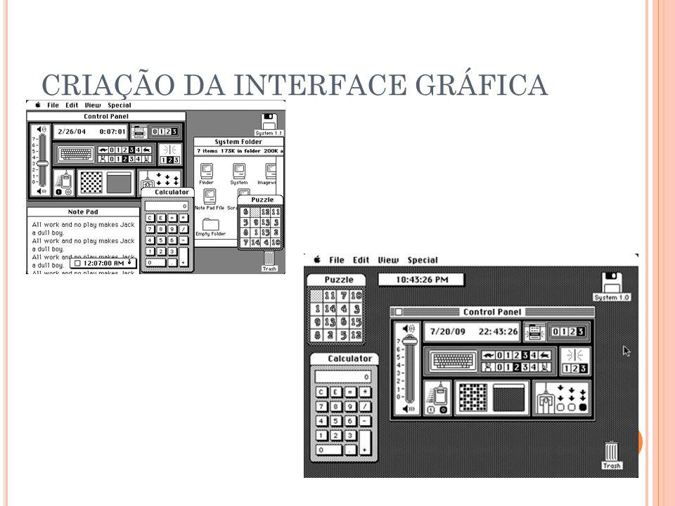 CRIAÇÃO DA INTERFACE GRÁFICA