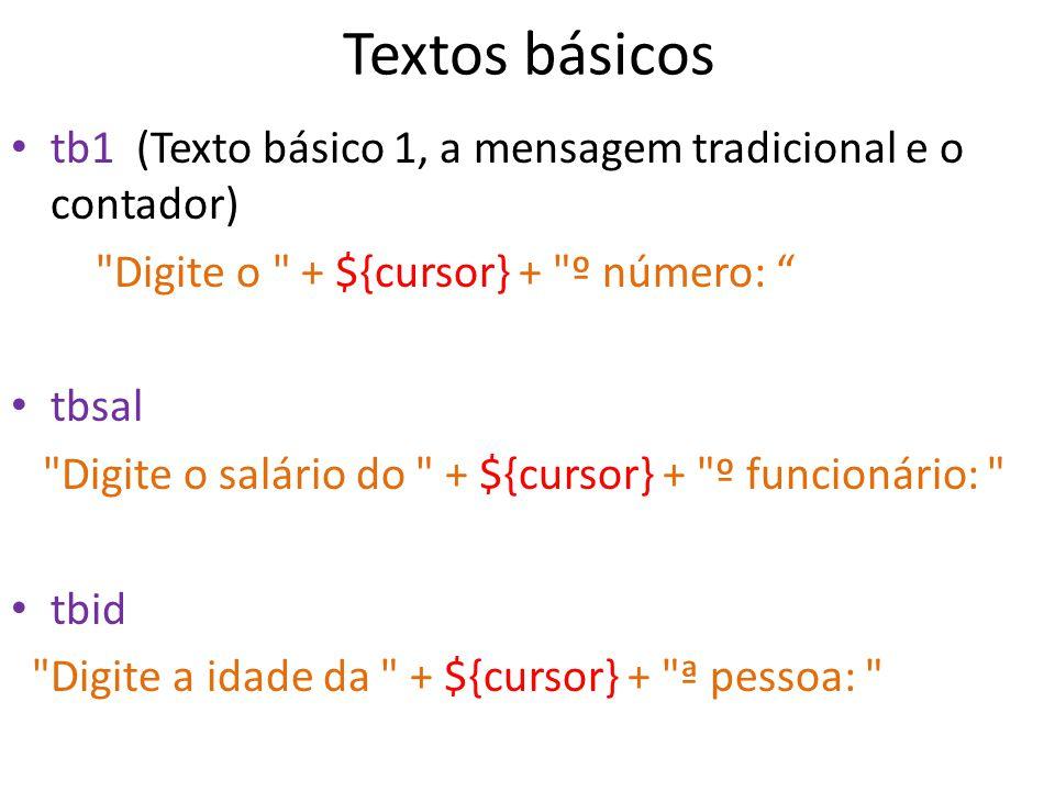 Textos básicos tb1 (Texto básico 1, a mensagem tradicional e o contador)