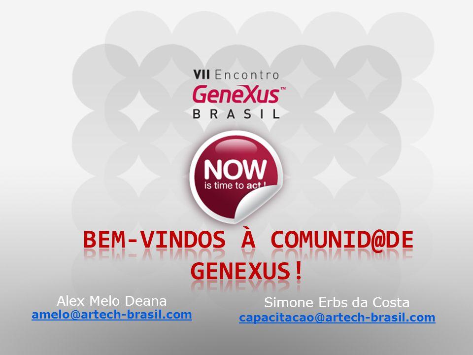 Alex Melo Deana amelo@artech-brasil.com Simone Erbs da Costa capacitacao@artech-brasil.com