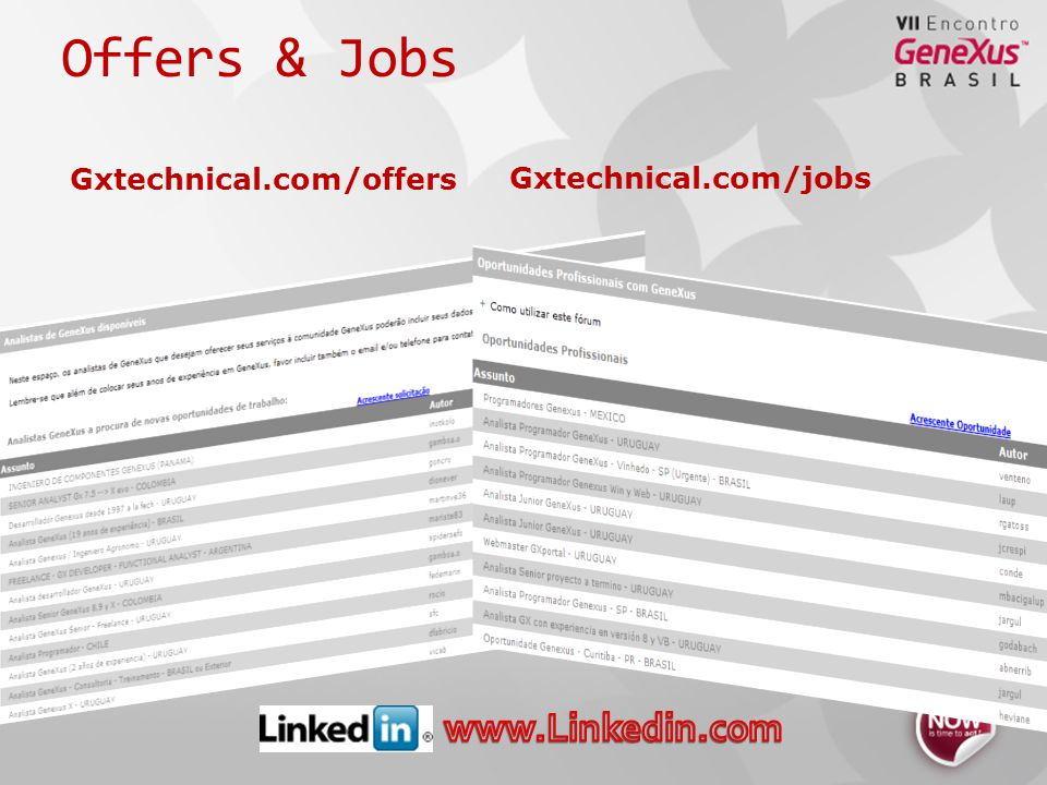 Offers & Jobs Gxtechnical.com/offers Gxtechnical.com/jobs