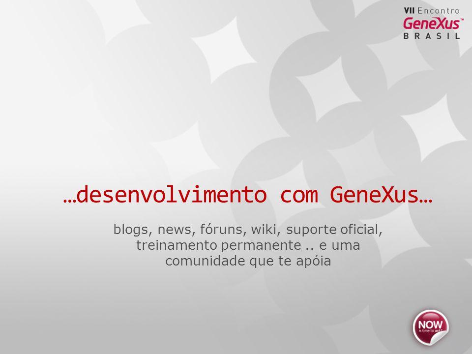 blogs, news, fóruns, wiki, suporte oficial, treinamento permanente..