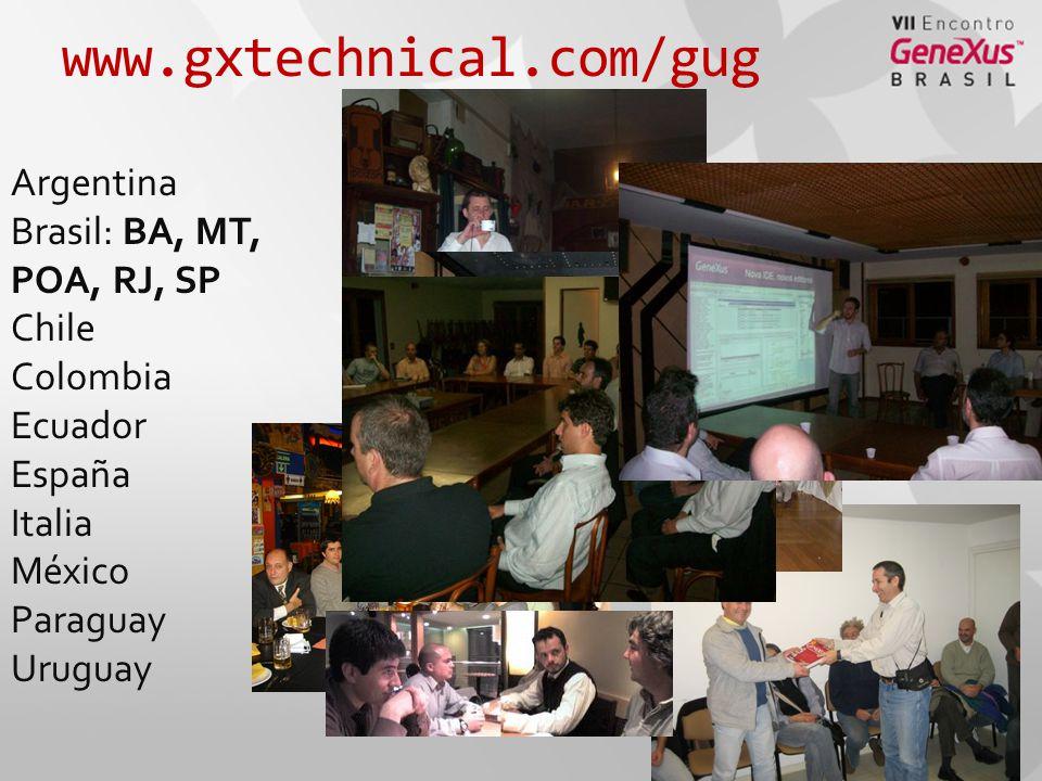 www.gxtechnical.com/gug Argentina Brasil: BA, MT, POA, RJ, SP Chile Colombia Ecuador España Italia México Paraguay Uruguay