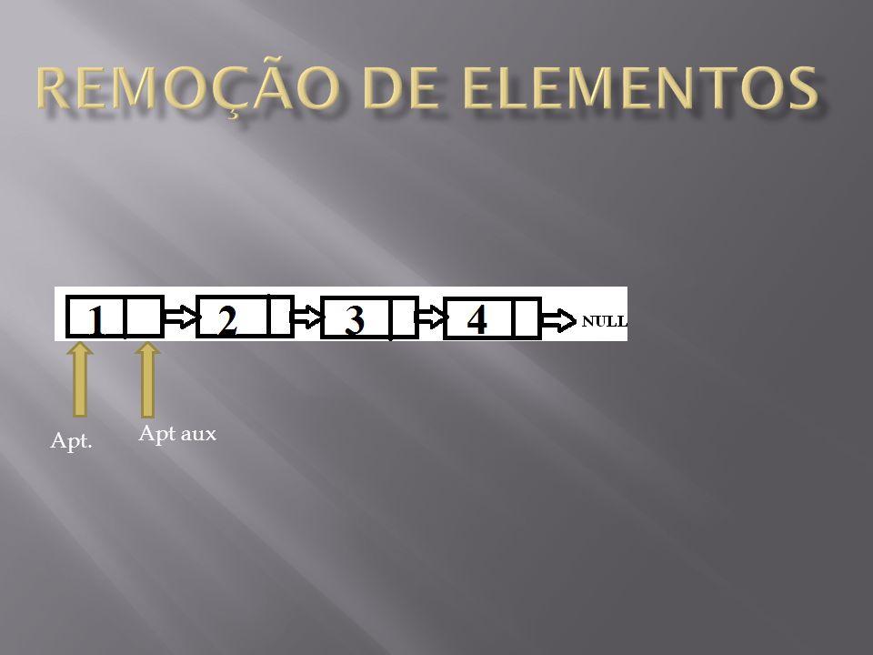 - Remover elemento do começo.