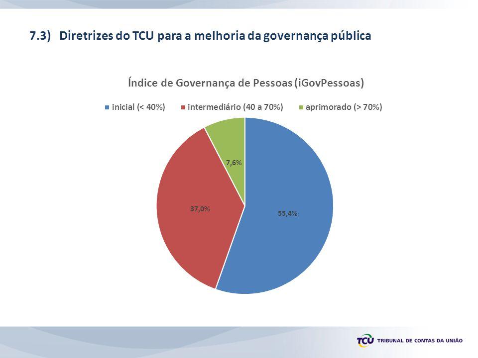 7.3) Diretrizes do TCU para a melhoria da governança pública