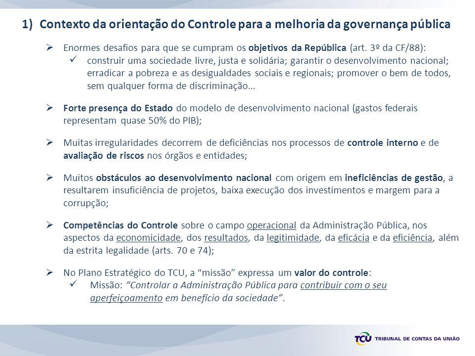 7.7) Diretrizes do TCU para a melhoria da governança pública Oportunidades de melhoria (iGovSeg) Práticas positivas (iGovSeg)