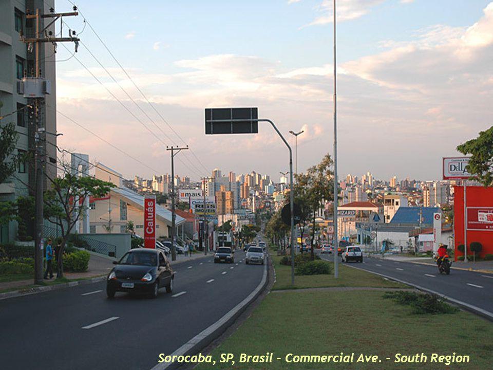 Sorocaba, SP, Brasil – Dowtown and Sorocaba River