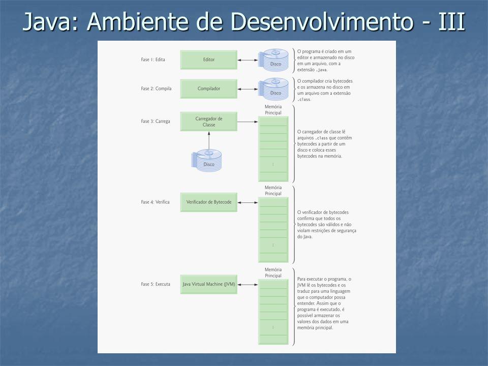 Java: Ambiente de Desenvolvimento - III