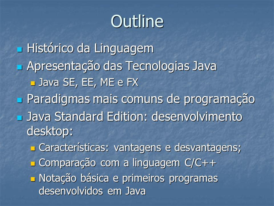 Java: Primeiros Passos Ex.programa FirstTest.java: Ex.