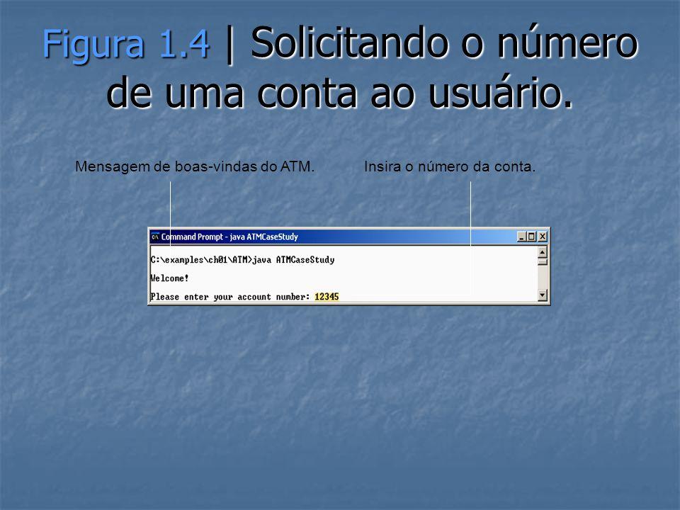 Figura 1.4 | Solicitando o número de uma conta ao usuário.