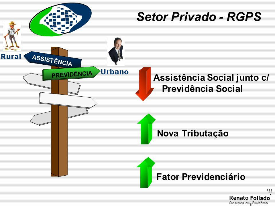 ...... RenatoFollado r Consultoria emPrevidência Setor Privado - RGPS ASSISTÊNCIA PREVIDÊNCIA Assistência Social junto c/ Previdência Social Rural Urb