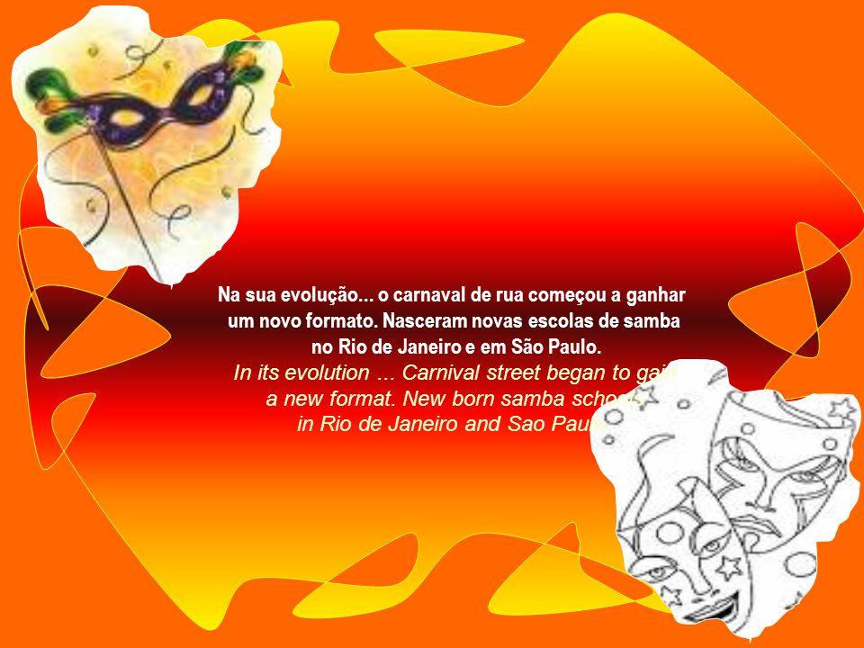 Por volta de 1723... o carnaval chegou ao Brasil sob influência européia. Ocorria através de desfiles de pessoas fantasiadas e mascaradas... Around 17
