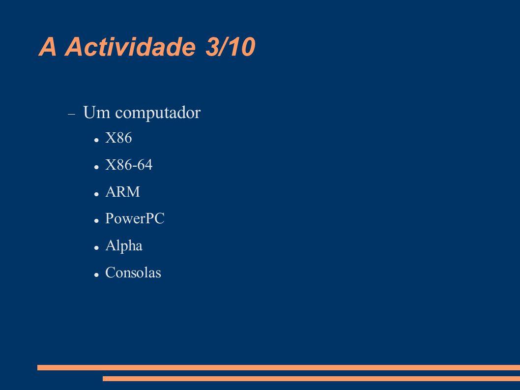 A Actividade 4/10 Instalação 1/4  Possuir um DVD/CD's de uma distro.