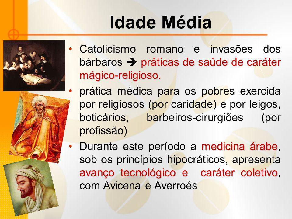 Idade Média práticas de saúde de caráter mágico-religioso.Catolicismo romano e invasões dos bárbaros  práticas de saúde de caráter mágico-religioso.