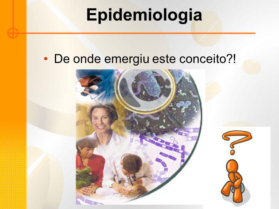 Epidemiologia De onde emergiu este conceito?!