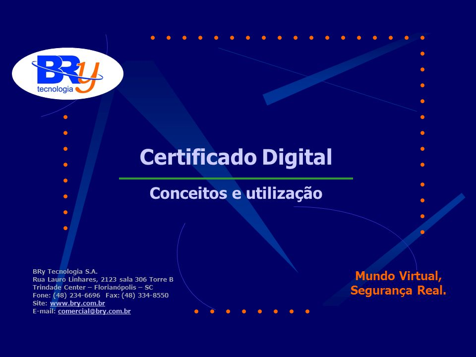 Mundo Virtual, Segurança Real. BRy Tecnologia S.A.