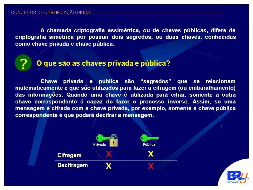 CONCEITOS DE CERTIFICAÇÃO DIGITAL Tudo a ver.
