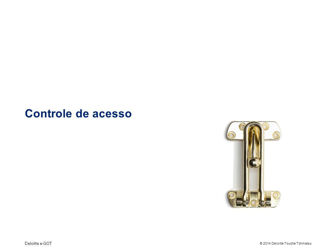 © 2014 Deloitte Touche Tohmatsu Controle de acesso Deloitte e-GOT
