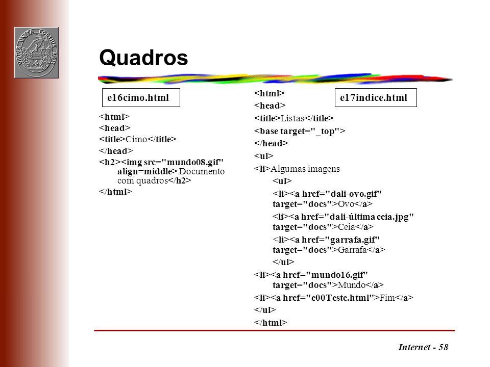Internet - 58 Quadros Cimo Documento com quadros Listas Algumas imagens Ovo Ceia Garrafa Mundo Fim e16cimo.htmle17indice.html