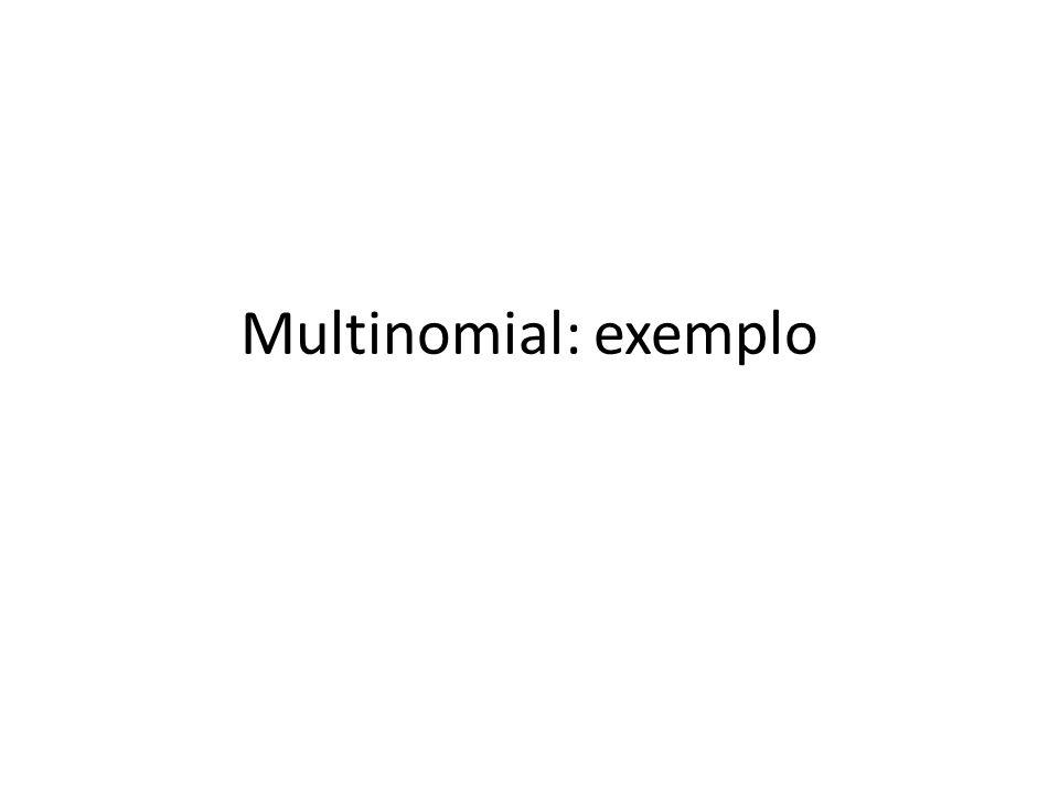 Multinomial: exemplo