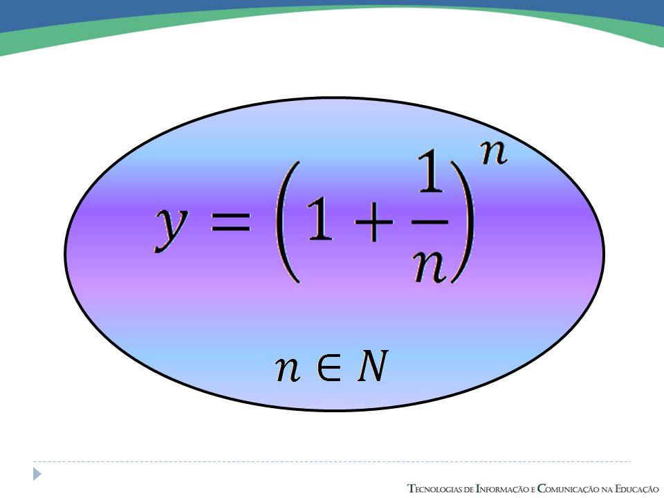 01 0,3679 -20,1353 12,7183 Exemplo: Construa em uma mesmo plano, os gráficos das funções: 2 7,3891