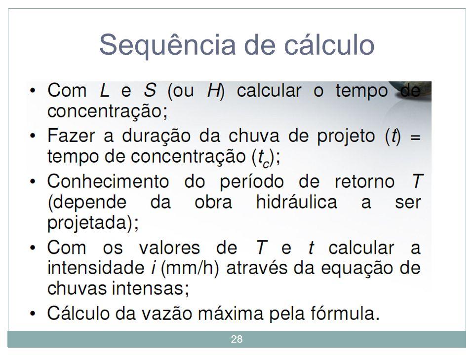 28 Sequência de cálculo