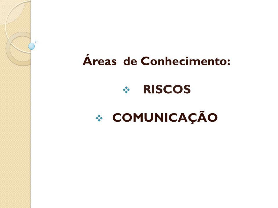 Áreas de Conhecimento:  RISCOS  COMUNICAÇÃO
