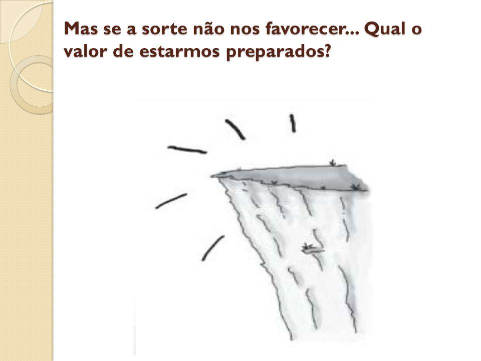 Mas se a sorte não nos favorecer... Qual o valor de estarmos preparados?