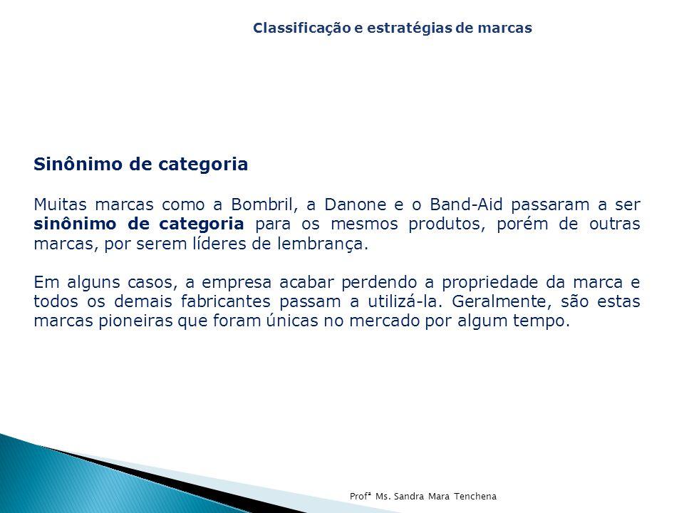 Sinônimo de categoria Muitas marcas como a Bombril, a Danone e o Band-Aid passaram a ser sinônimo de categoria para os mesmos produtos, porém de outra