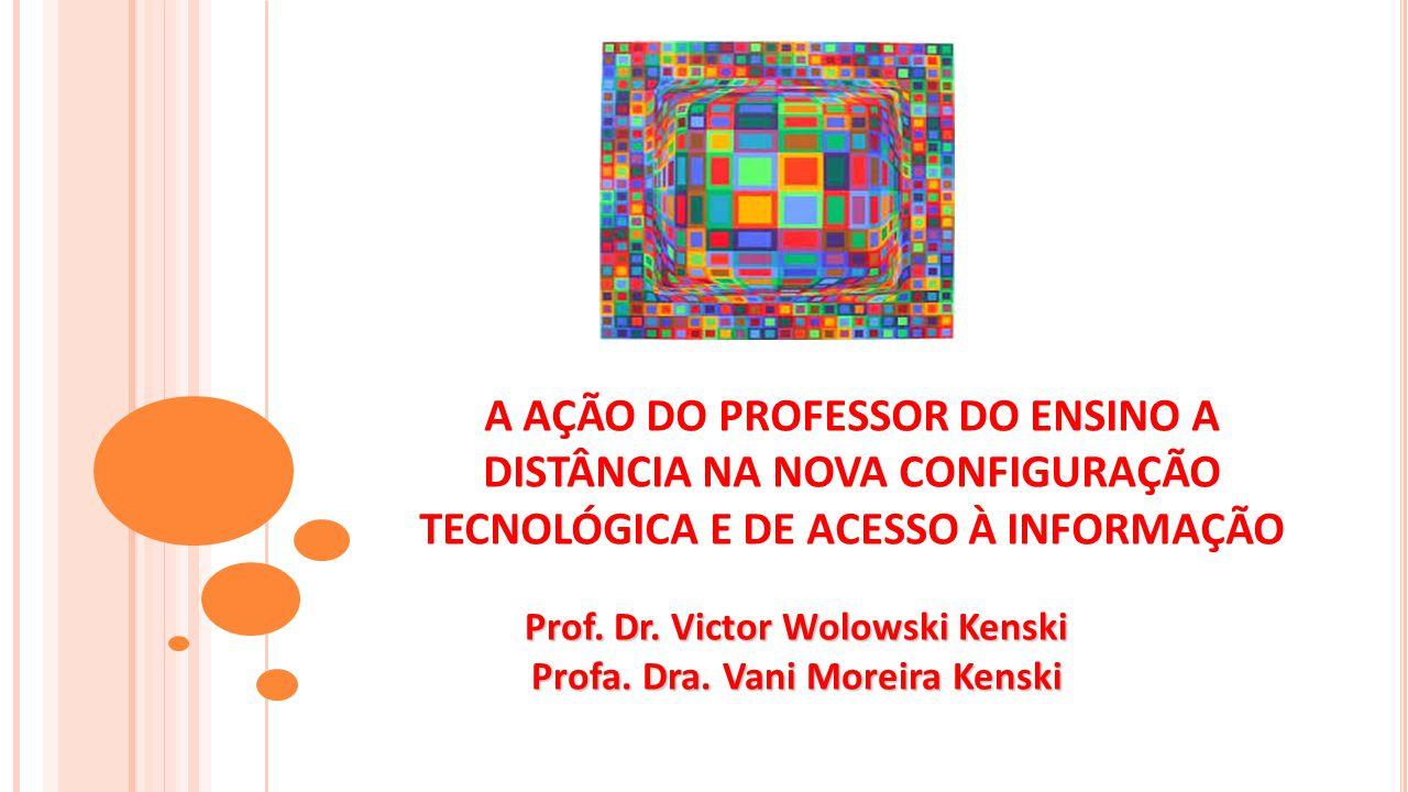 A AÇÃO DO PROFESSOR DO ENSINO A DISTÂNCIA NA NOVA CONFIGURAÇÃO TECNOLÓGICA E DE ACESSO À INFORMAÇÃO Prof.