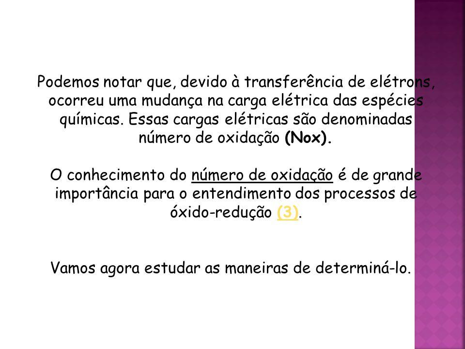 QUÍMICA, 3ª ANO Oxirredução (Regras do Nox) Podemos notar que, devido à transferência de elétrons, ocorreu uma mudança na carga elétrica das espécies químicas.