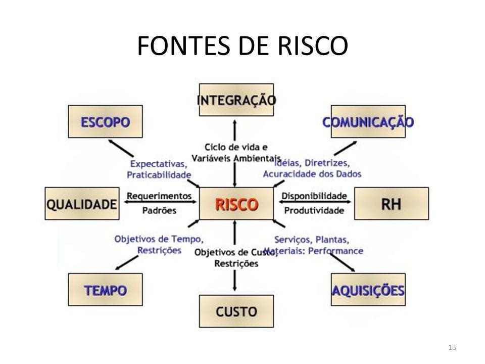 13 FONTES DE RISCO