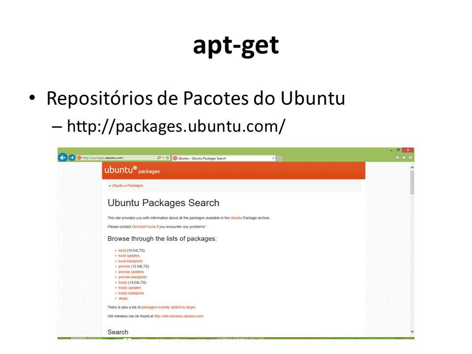 apt-get Repositórios de Pacotes do Ubuntu – http://packages.ubuntu.com/