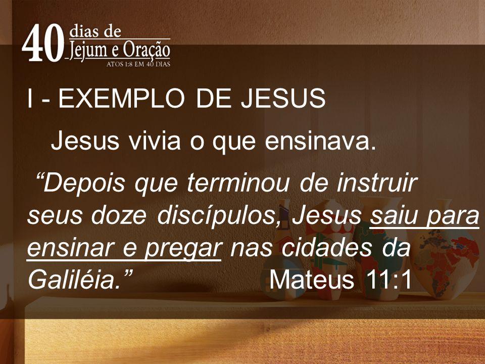I - EXEMPLO DE JESUS Jesus ministrava no poder do Espírito.