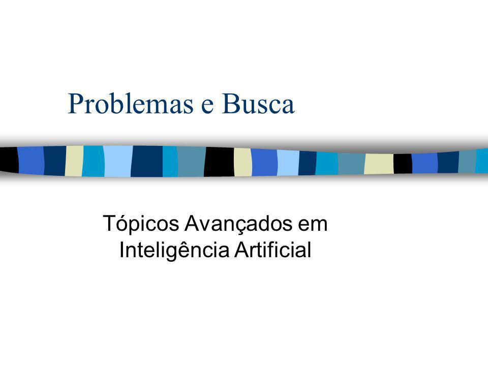 Os problemas da IA n Jogos n demonstrações de teoremas n problemas de raciocínio do senso comum n percepção(visão e fala) n compreensão da linguagem natural n solução de problemas em domínios especializados